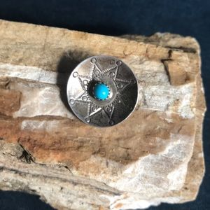 Native American Sterling & Turquoise Pendant